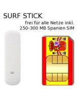 USB UMTS Surfstick inkl. 250 MB Spanien Prepaid Telefonie- und Daten SIM # 1