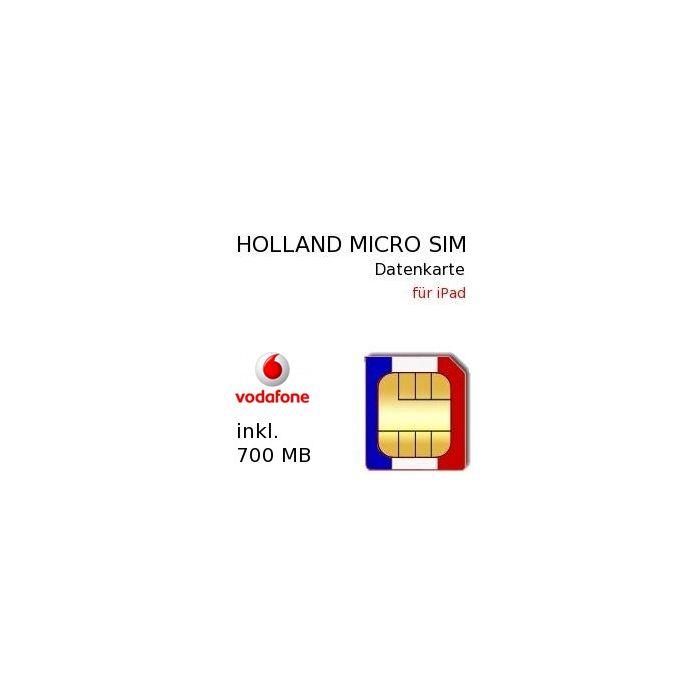 Holland Prepaid 350 MB Daten MICRO-SIM Karte für iPad #2