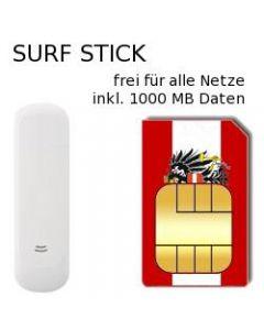 USB UMTS Surfstick simlockfrei inkl. 1GB Österreich Prepaid Daten SIM