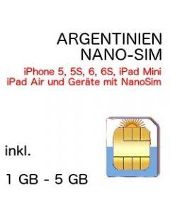 Argentinien NANO SIM