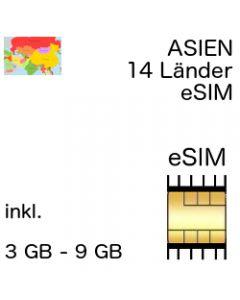 eSIm Asien 14 Länder