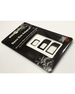 iPhone NANO SIM Adapter Set - NANO auf NORMAL, NANO auf MICRO und MICRO auf NORMALE SIM