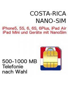 Costa Rica NANO SIM