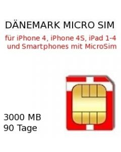 Daenemark micro sim
