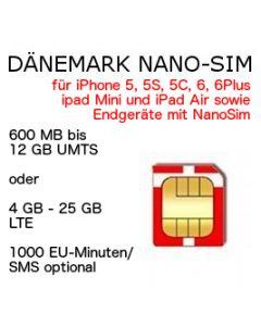 Dänemark NANO SIM LTE