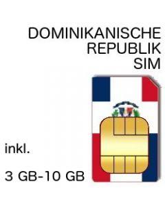 DOMINIKANISCHE REPUBLIK PREPAID SIM (DOM-REP)