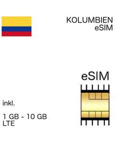 kolumbianische eSIM Kolumbien