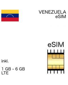 venezulanische eSIm Venezuela