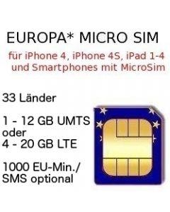 Europa Micro SIm