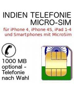 Indien Telefonie MicroSIM