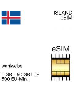 isländische eSIM Island