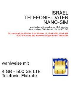 Israelische NANO-SIM Israel
