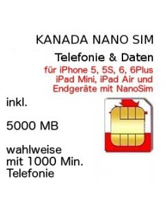 Kanada Nano SIM