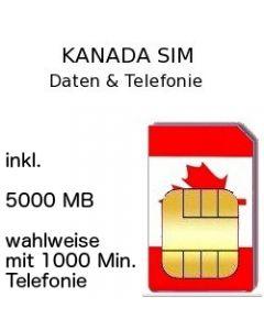 Kanada SIM 5 GB
