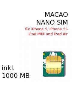 Macao NANO-SIM