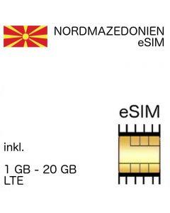 Mazedonien eSIM Nordmazedonien