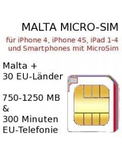 Malta micro-sim