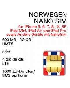 Norwegen NANO SIM LTE