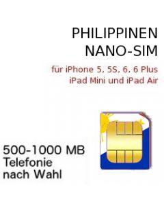 Philippinen NANO SIM Telefonkarte