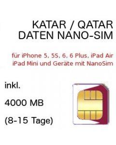 Katar nano-SIM Qatar