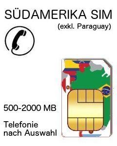 Südamerika Telefonie SIM