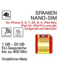 Spanien NANO-SIM Vodafone