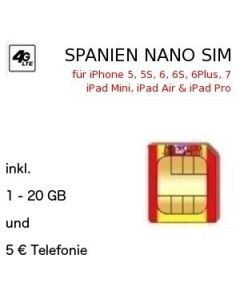 Spanien NANO SIM inkl. LTE