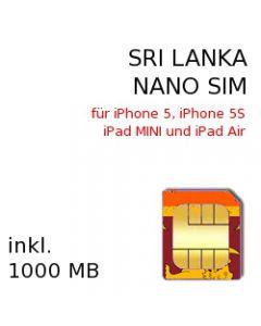 Sri Lanka NANO SIM