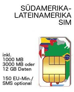 Suedamerika SIM