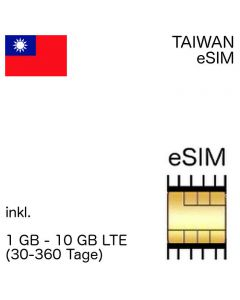 Taiwanesiche eSIm Taiwan