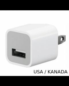 USB Power Adapter Ladegerät USA Netzwandstecker für Apple iPhone/iPod/iPad