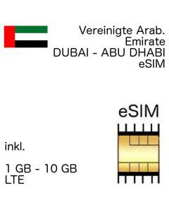 VAE eSIm Vereinigte arabische Emirate